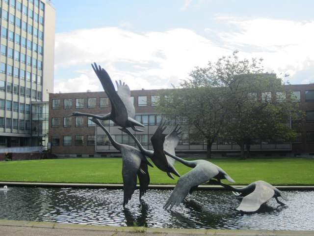 Swans in Flight  (sculpture)