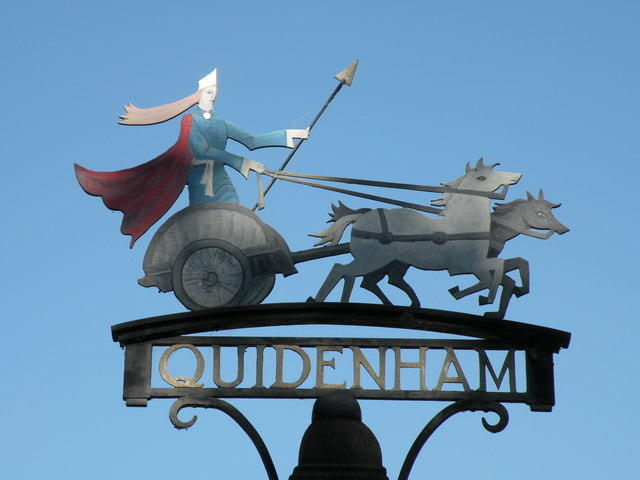 The village sign at Quidenham