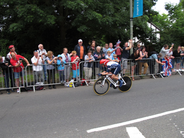 Emma Pooley in women's time trial, 2012 Olympics