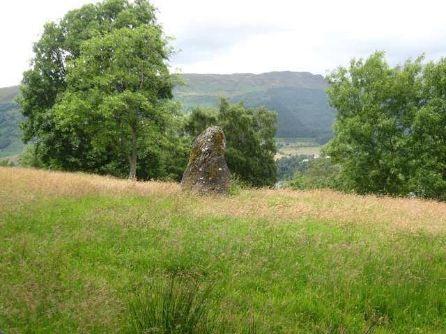 Ancient standing stone north of Achianich