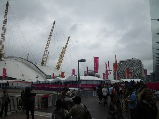 Approaching the North Greenwich Arena