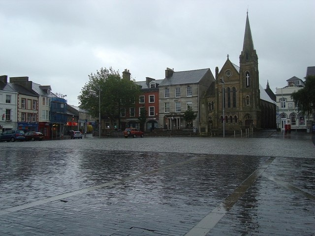 Church and Square in Caernarfon