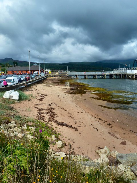 Beach at Brodick Ferry