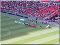 TQ1985 : S Korea v Gabon line up, Olympics men's football, Wembley by David Hawgood