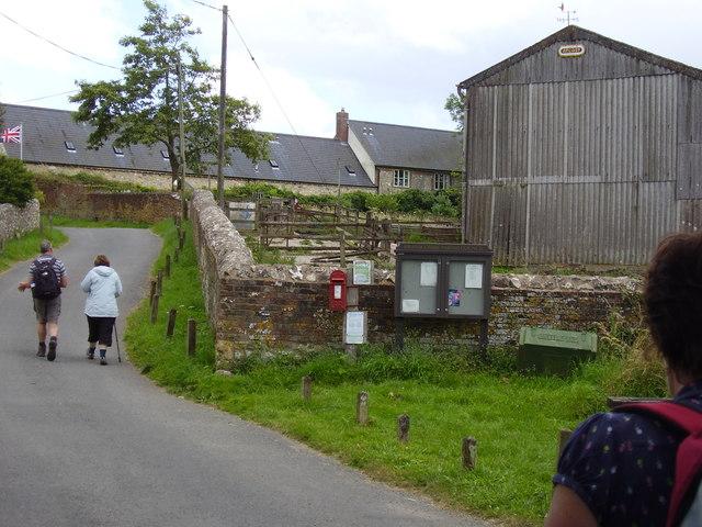 Walking towards Lower Weston Farm