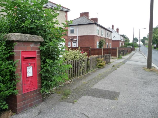 Wall letter box, Brierley
