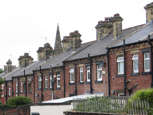 Heckmondwike - roofline at rear of Church Street