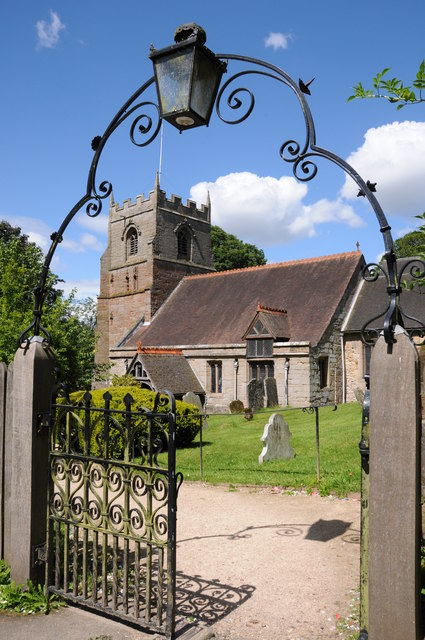Gate to Beoley church