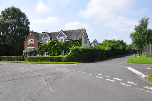 House on road junction at the side of R.A.F. Cosford