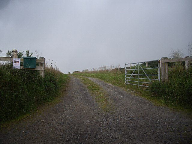 Gated access to Holmhead Farm