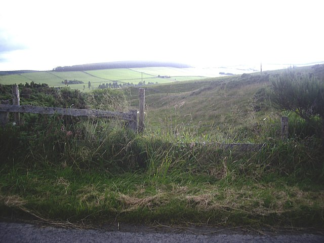 View to valley of the Rumblie Burn