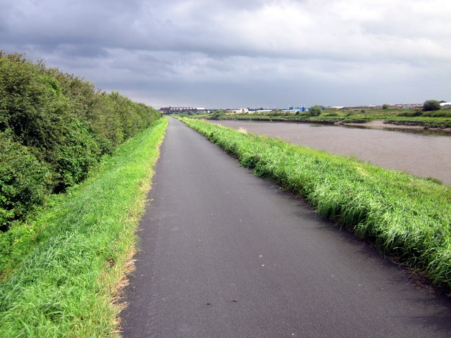 The Dee Coastal Path near Saltney