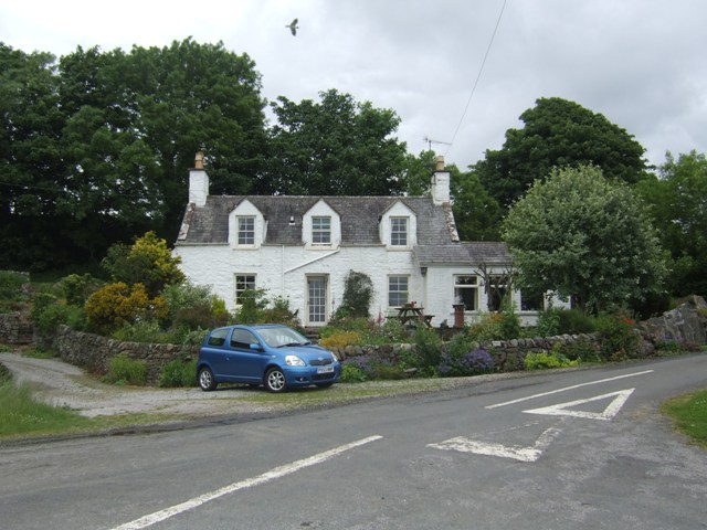 House at road junction at Nun Mill