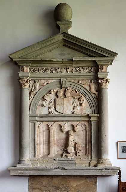St Marcella's church, Denbigh - monument to Humphrey Llwyd
