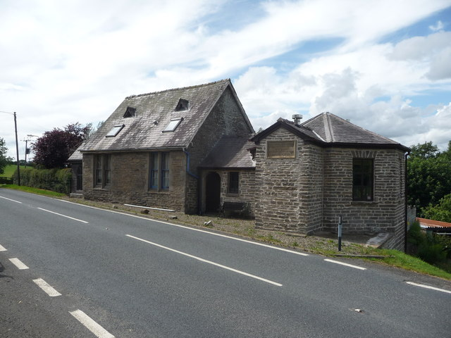 Old schoolhouse at Llanfihangel Rhydithon