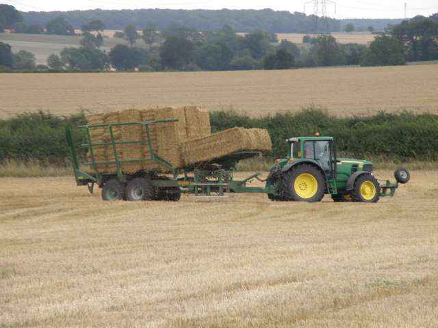Bale cart with a chaser