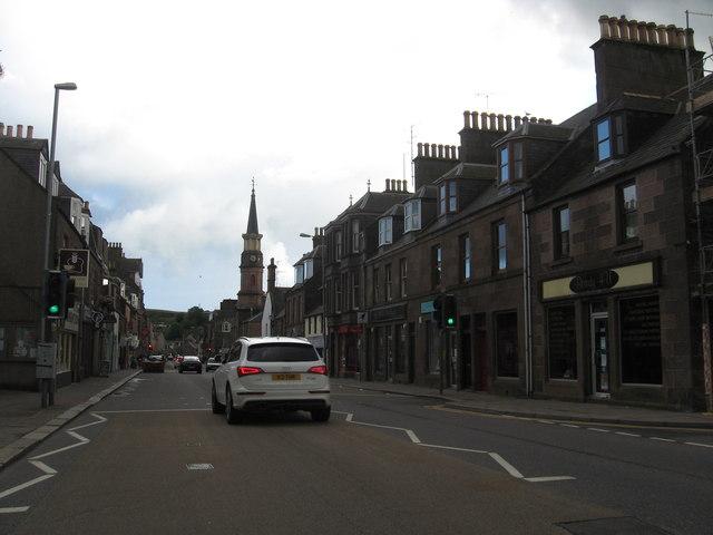 A street scene in Stonehaven