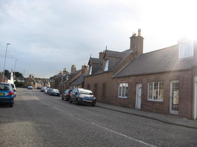 The scene at Inverbervie in Aberdeenshire