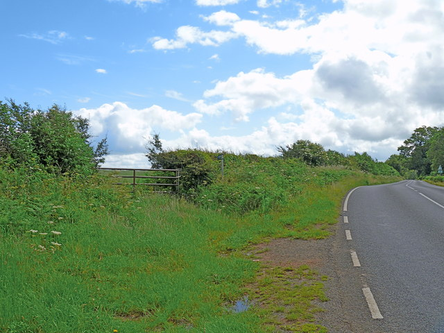 Bridleway leaves the road