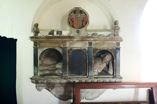 St Garmon's parish church, Llanarmon yn Iâl - monument to Captain Evan Lloyd