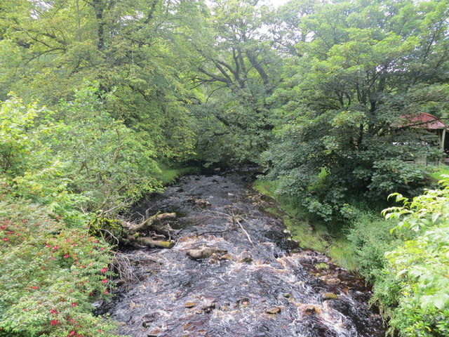 Crossaig Burn from the bridge