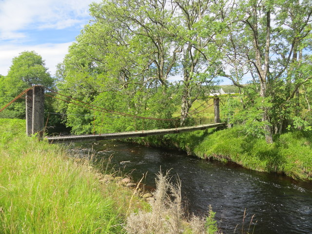 Footbridge over Claonaig Water
