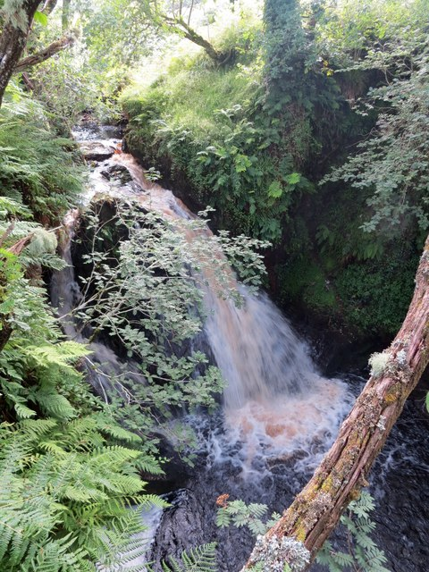 Waterfall on Larachmor Burn