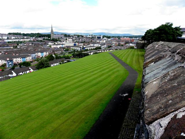 A view along the city walls, Derry / Londonderry