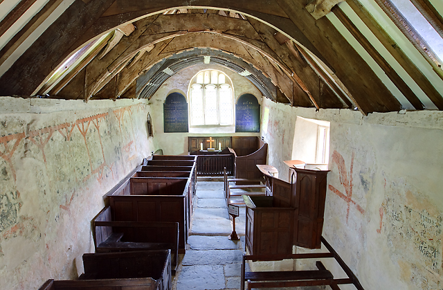 All Saints church, Llangar - interior (4)