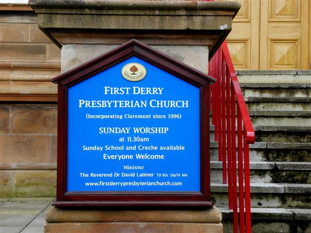 Church board, First Derry Presbyterian Church