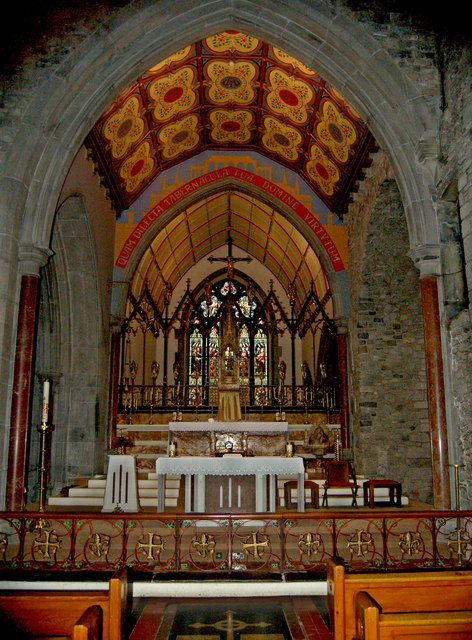 Adare - Main Street - Trinitarian Priory (1230) / Holy Trinity Abbey Church Altar