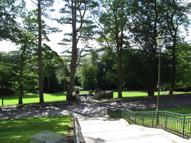 Gardens on the west side of St Patrick's Catholic Cathedral