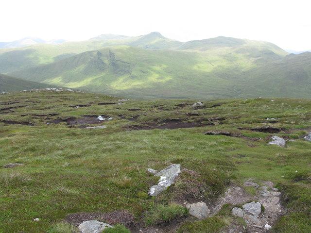 Peat Hags on Meall Ghaordaidh