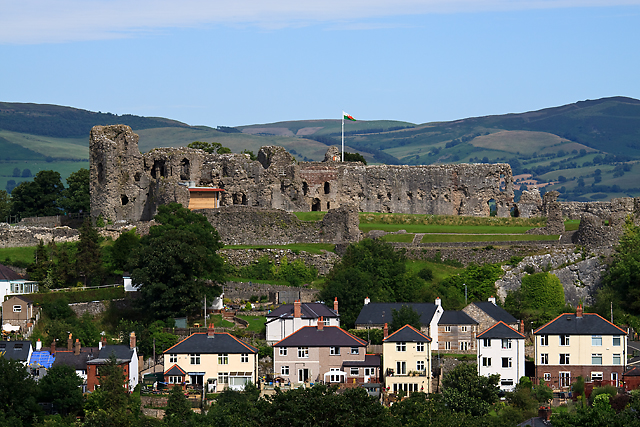 Denbigh Castle from Galch Hill