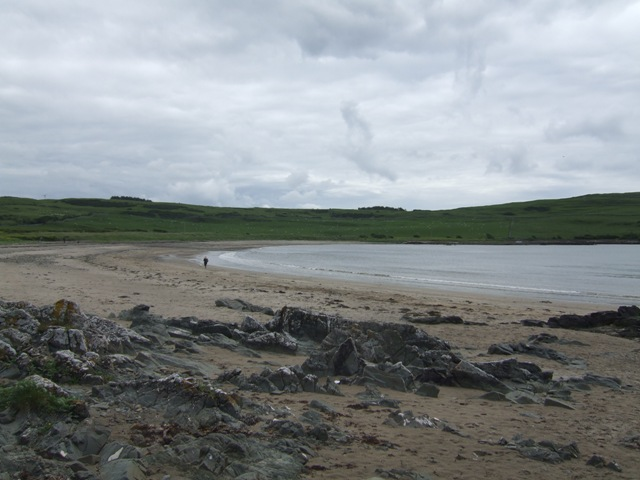The beach at Brighouse Bay