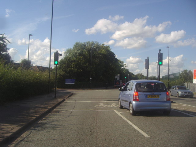 Argyle Road at the junction of Stockdove Way