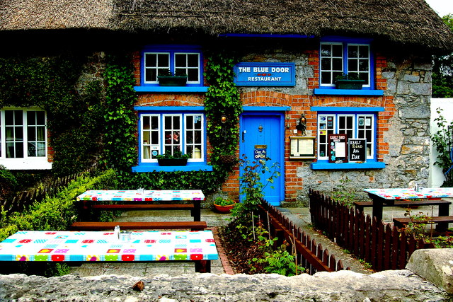 Awesome Adare   Main Street   The Blue Door Restaurant Cottage