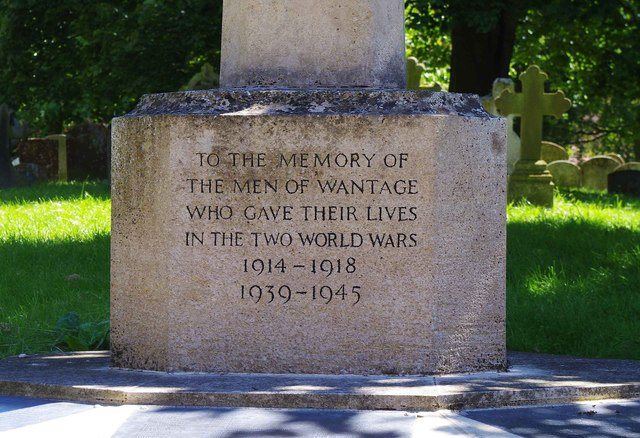 Wantage War Memorial (2) - dedication, Church Street, Wantage