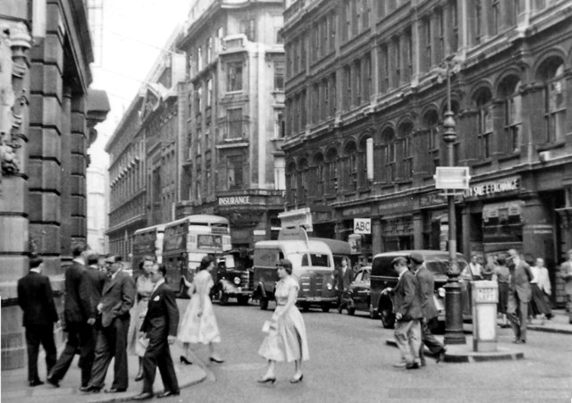 Leadenhall Street from Bishopsgate, 1955
