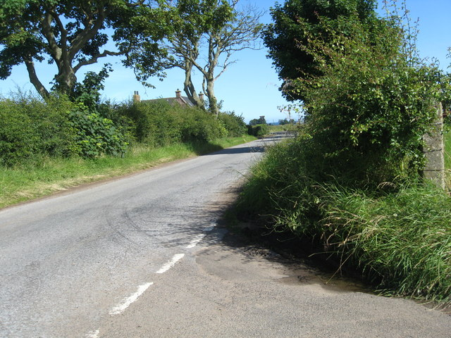 Scene at the road junction near East Scryne Farm
