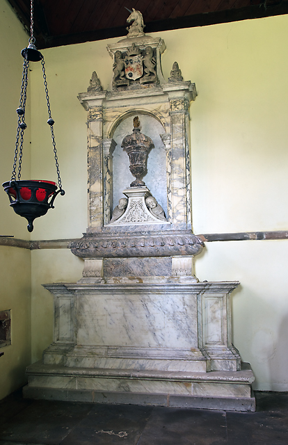 St Andrew's church, Wroxeter - monument to Francis Newport