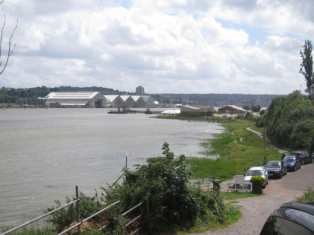 River Medway by Upper Upnor