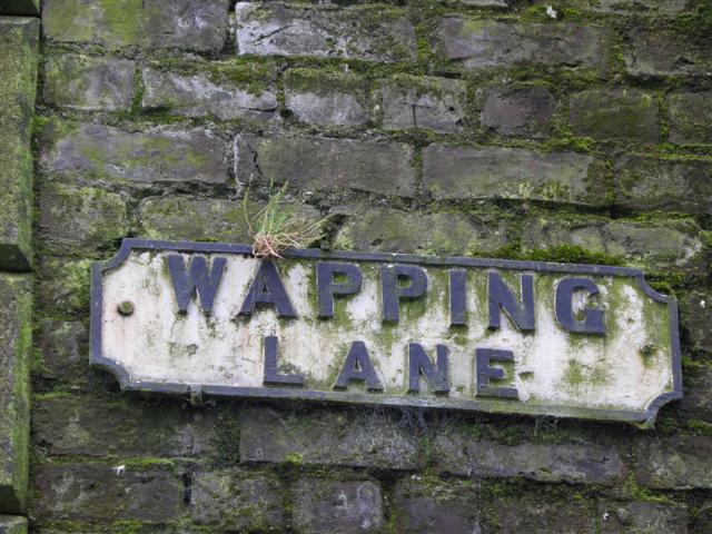 Wapping Lane sign
