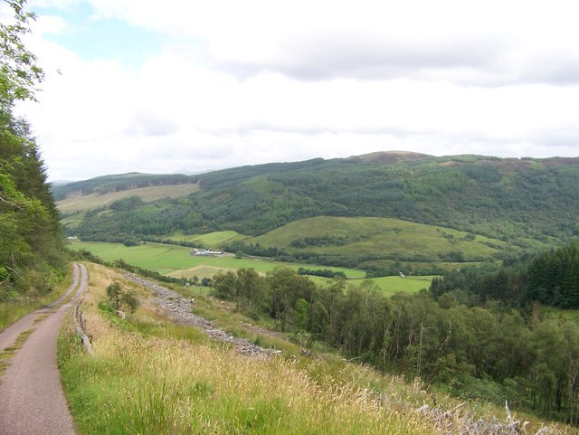 The Otter Ferry to Glendaruel road