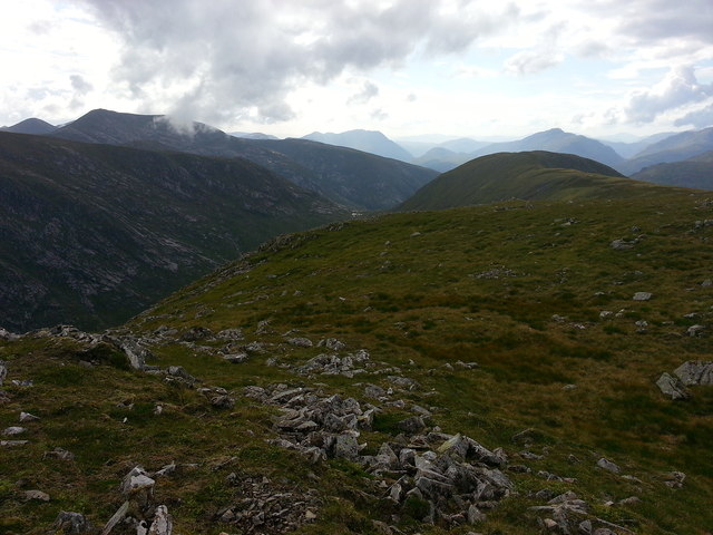 View W from Stob a' Bhruaich Leith