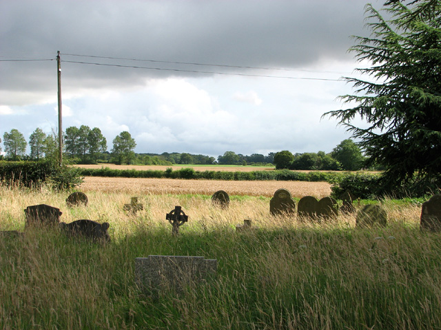 View across the churchyard at Kirby Cane