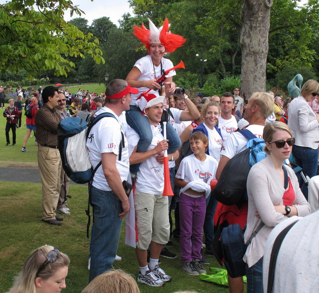 Olympics triathlon Hyde Park - spectators