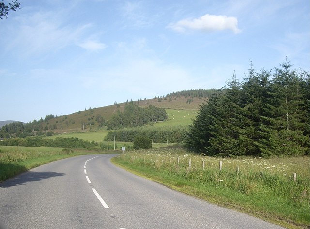 Looking east from near Tillylodge