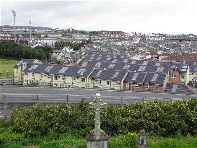 Roofs with solar panels, Derry / Londonderry
