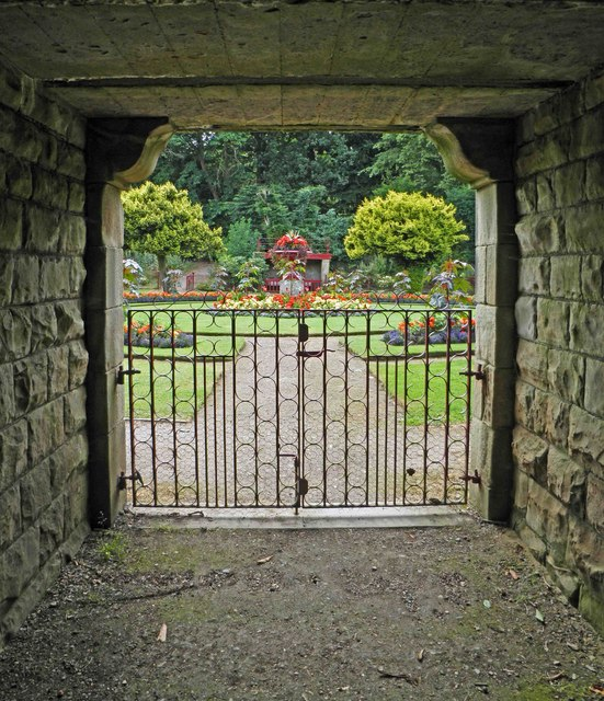 View through the arch into the Victorian Garden